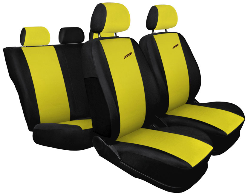 Pokrowce XR na fotele samochodowe - wersja żółta