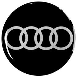 Emblematy na kołpaki AUDI, silikonowe 3D (zamienniki)