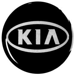 Emblematy na kołpaki KIA, silikonowe 3D (zamienniki)