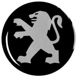 Emblematy na kołpaki PEUGEOT, silikonowe 3D (zamienniki)