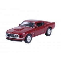 Autko kolekcjonerskie - model 1969 FORD Mustang Boss 429 bordowy