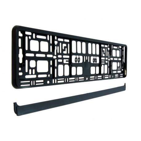 Ramka pod tablicę rejestracyjną czarna elastyczna