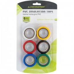 Taśmy izolacyjne PVC 15mmx5m kolorowe zestaw 6szt.