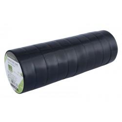 Taśmy izolacyjne PVC 15mm x5 m czarne 10szt zestaw