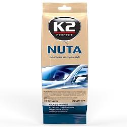 K2 NUTA Chusteczki szyb lusterek ekranów 25 szt