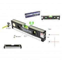 Poziomica laserowa podświetlana z miarą 1,5m